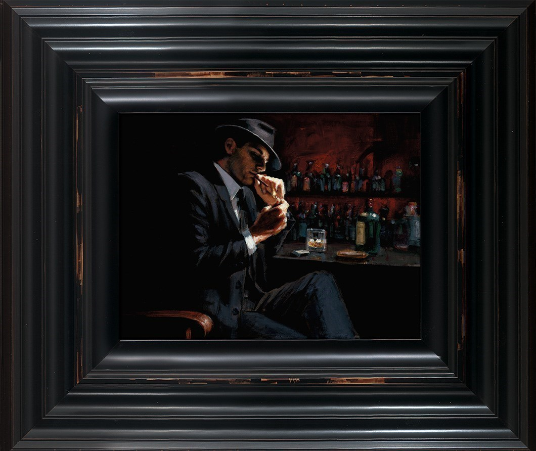 Man Lighting Cigarette III by Fabian Perez - Limited Edition on Canvas sized 12x10 inches. Available from Whitewall Galleries